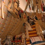 Interior of Canadian friend's tipi